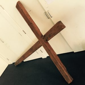 Cross found inside a St. Kilda church - the location of a Wim Hof workshop
